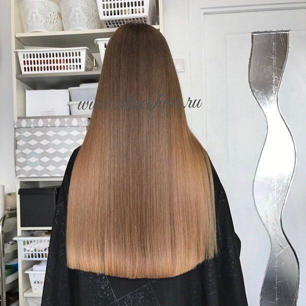 Волосы 50 см это до куда